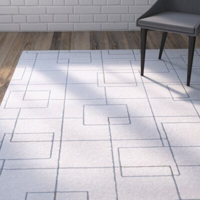 Mcdowell White/Gray Area Rug Rug Size: Rectangle 710 x 10