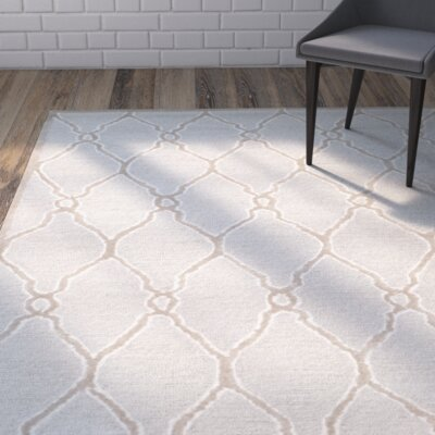 Martins Hand-Tufted Wool Light Gray/Ivory Area Rug Rug Size: Rectangle 2 x 3