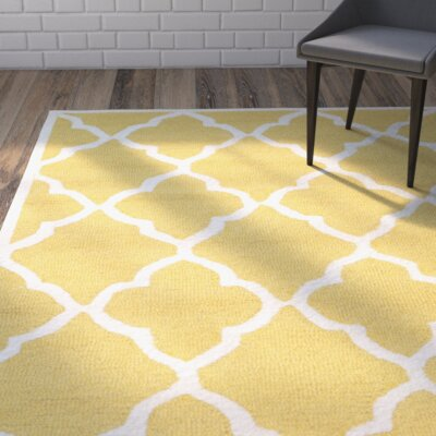 Charlenne Gold / Ivory Area Rug Rug Size: Rectangle 3 x 5