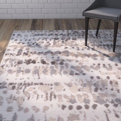 Ladson Cream/Gray Area Rug Rug Size: Rectangle 8 x 10