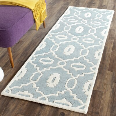 Wilkin Blue / Ivory Moroccan Rug Rug Size: Runner 2'3