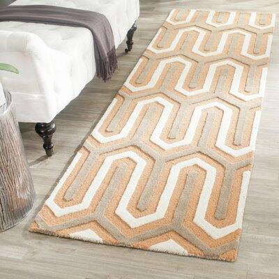 Martins Orange / Grey Area Rug Rug Size: Runner 26 x 8
