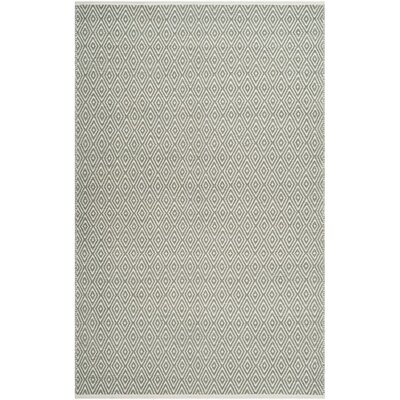 Scheid Hand-Tufted Green Area Rug Rug Size: 5 x 8