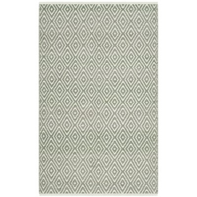 Scheid Hand-Tufted Green Area Rug Rug Size: Square 8