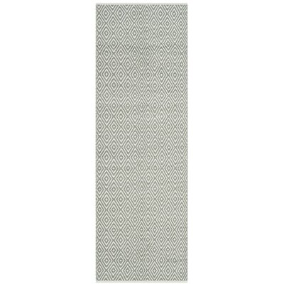 Scheid Hand-Tufted Gray Area Rug Rug Size: Runner 23 x 11