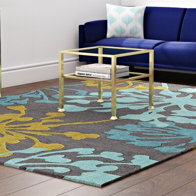 Varick Gallery West Wick Hand-Tufted Gray/Gold Area Rug