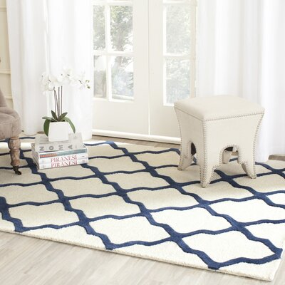 Charlenne Hand-Tufted Ivory Area Rug Rug Size: Rectangle 26 x 4