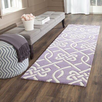 Wilkin Purple / Ivory Area Rug Rug Size: Runner 23 x 7