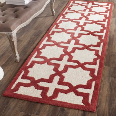Martins Ivory / Rust Area Rug Rug Size: Runner 26 x 8