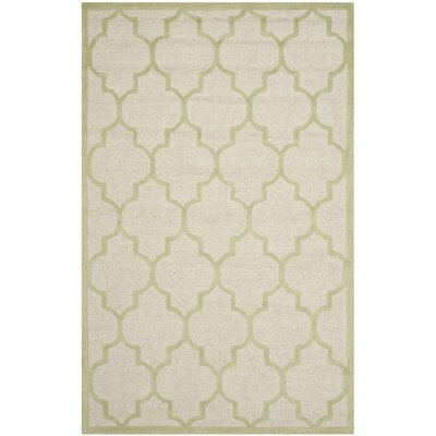 Martins Ivory / Light Green Area Rug Rug Size: 4 x 6