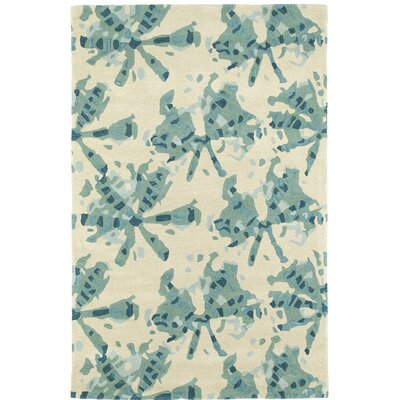 Schafer Hand Tufted Beige/Green Area Rug Rug Size: 9 x 12