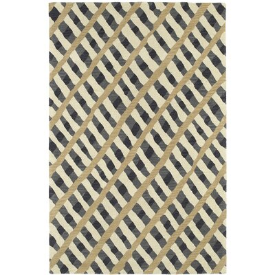 Schafer Hand Tufted Gray/Beige Area Rug Rug Size: 9 x 12