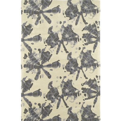 Schafer Hand Tufted Gray/Beige Area Rug Rug Size: 3 x 5