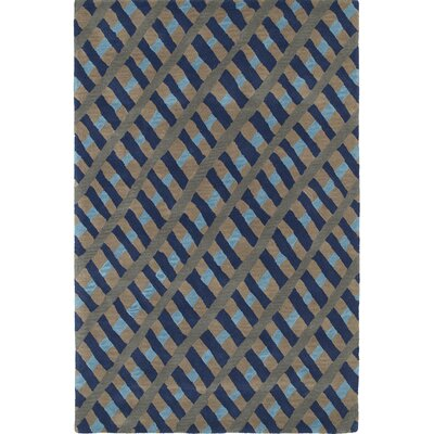 Schafer Hand Tufted Blue/Brown Area Rug Rug Size: 3 x 5