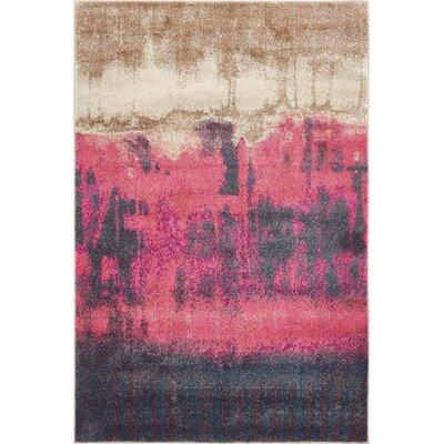 Autumnus Pink Area Rug Rug Size: 4 x 6
