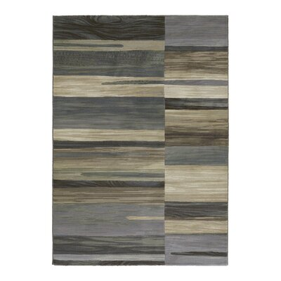 Sappington Tan/Teal Area Rug Rug Size: 39 x 53