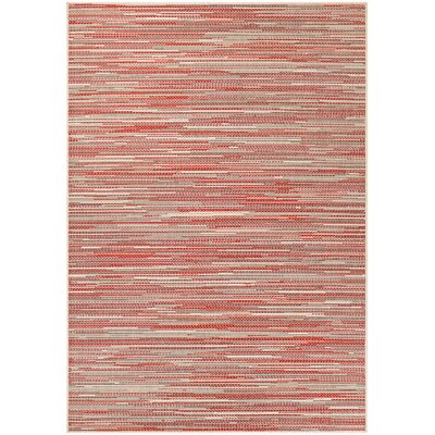 Dobbs Sand/Maroon Indoor/Outdoor Area Rug Rug Size: Runner 23 x 710