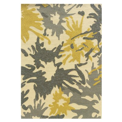 Frasher Hand-Tufted Yellow/Gray Outdoor Area Rug Rug Size: 5 x 7