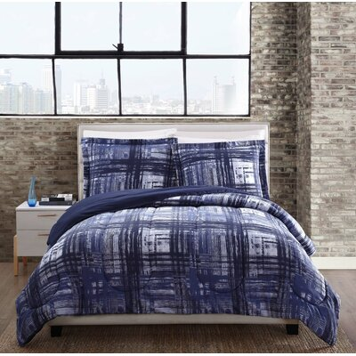 Scheffel Comforter Set Size: Twin, Color: Blue
