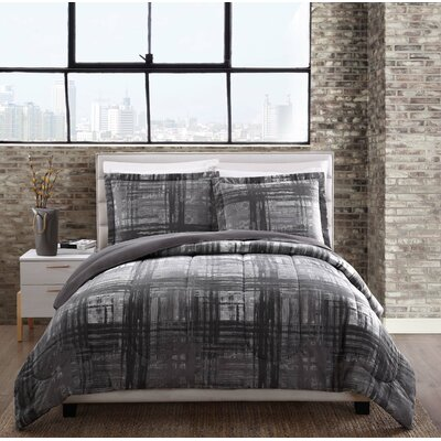 Macy Comforter Set Size: King, Color: Gray