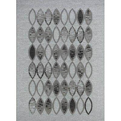Scorpius Gray/Black Indoor/Outdoor Area Rug Rug Size: 510 x 92