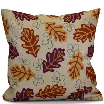 Corder Retro Leaves Floral Throw Pillow Size: 16
