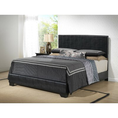 Aedan Upholstered Panel Bed Size: Queen, Color: Mocha