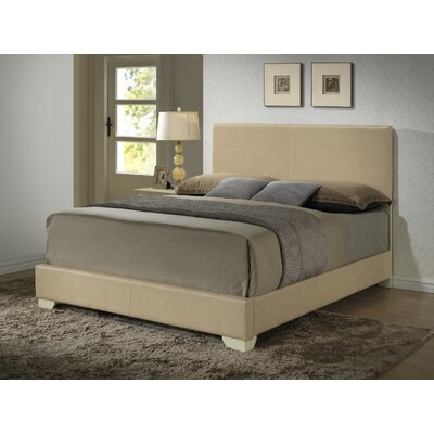 Aedan Upholstered Panel Bed Size: Full, Color: Orange