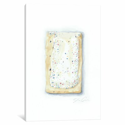 Blueberry Pop-Tart Painting Print on Wrapped Canvas Size: 12