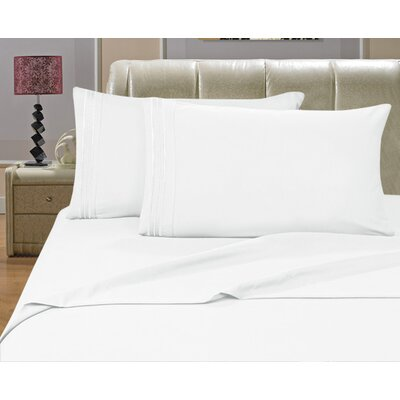 Knorr Split King 1500 Thread Count Sheet Set Color: White