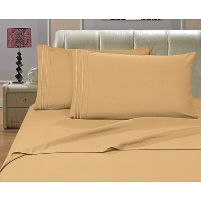Riam Split King 1500 Thread Count Sheet Set Color: Gold