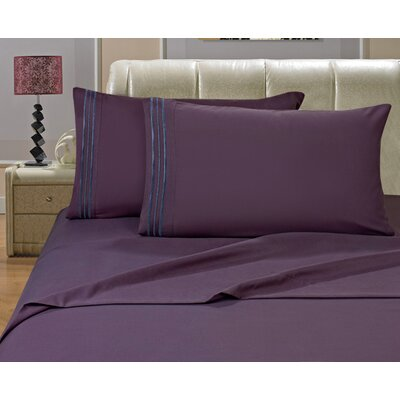 Riam Split King 1500 Thread Count Sheet Set Color: Purple