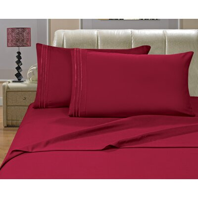 Knorr Split King 1500 Thread Count Sheet Set Color: Burgundy