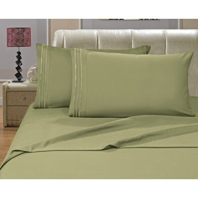 Riam Split King 1500 Thread Count Sheet Set Color: Green