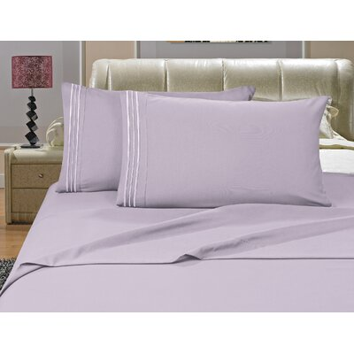 Riam Split King 1500 Thread Count Sheet Set Color: Lilac