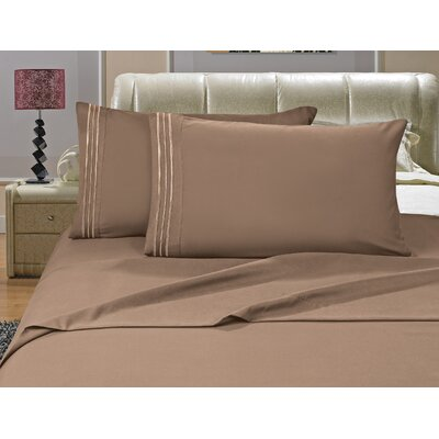 Riam Split King 1500 Thread Count Sheet Set Color: Taupe