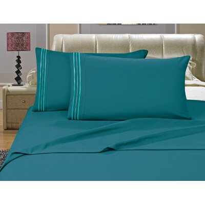 Riam Split King 1500 Thread Count Sheet Set Color: Turquoise