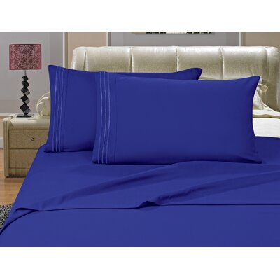 Riam Split Twin XL Sheet Set Color: Royal Blue