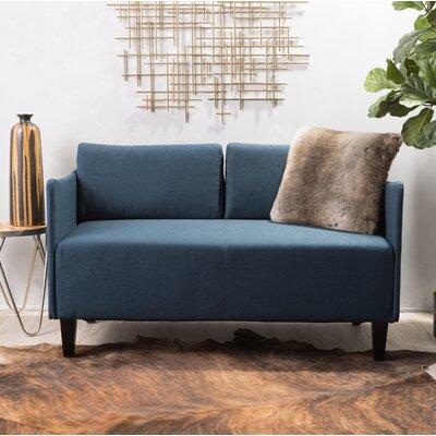 Emmett Loveseat Upholstery: Blue