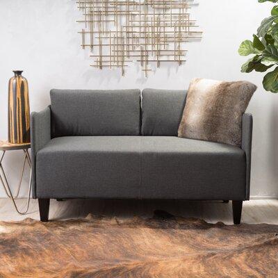 Emmett Loveseat Upholstery: Gray