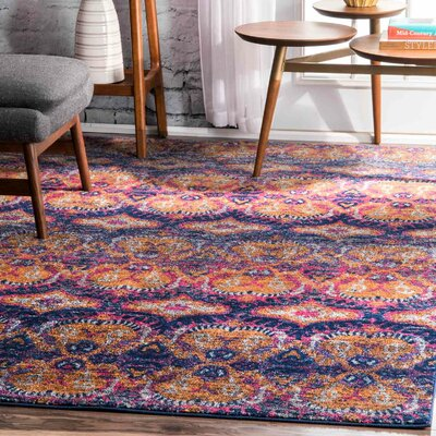 Cumberland Navy Area Rug Rug Size: Runner 28 x 8