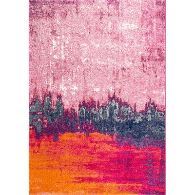 Gross Pink Area Rug Rug Size: 4 x 6