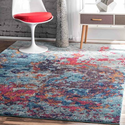 Beach Blue Area Rug Rug Size: 9 x 12