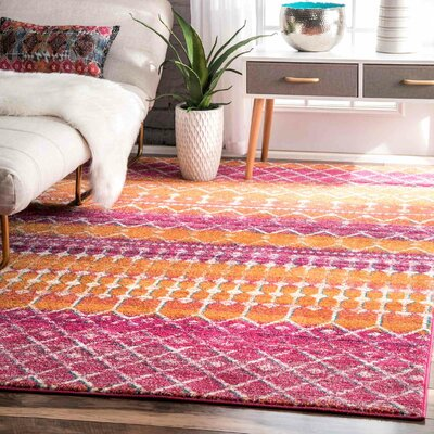 Maverick Orange Area Rug Rug Size: 9 x 12