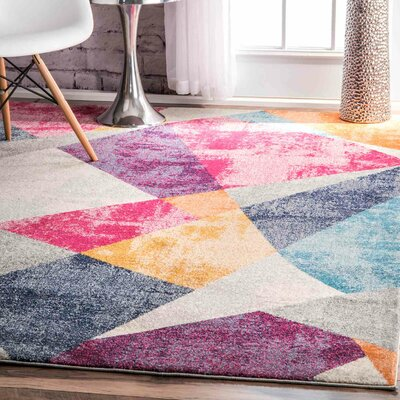 Dunmore Pink/Gray Area Rug Rug Size: Rectangle 4 x 6