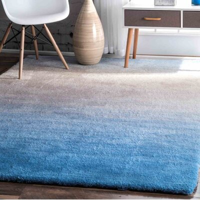 Stoke St Michael Hand-Tufted Blue Area Rug Rug Size: 4 x 6