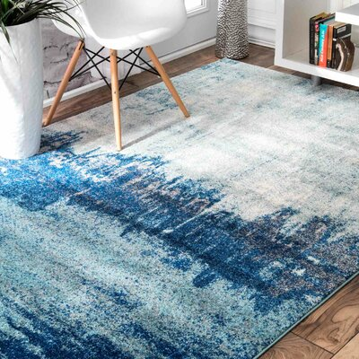 Gleno Blue Area Rug Rug Size: Rectangle 9 x 12