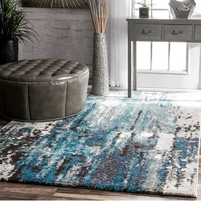 Elliott Blue/Gray Area Rug Rug Size: Rectangle 4 x 6