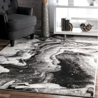 Apple Creek Gray Area Rug Rug Size: Rectangle 76 x 96