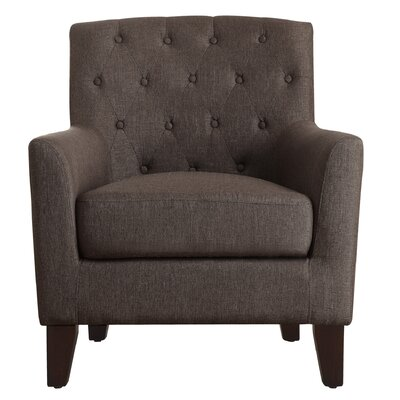 Kilmersdon Tufted Armchair Upholstery: Dark Brown